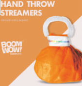 Hand Thrown Streamers White Novelties Boom Wow
