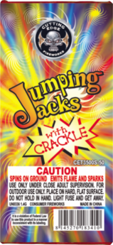 Jumping Jacks With Crackle 48/12 Ground Spinners Cuttingedge