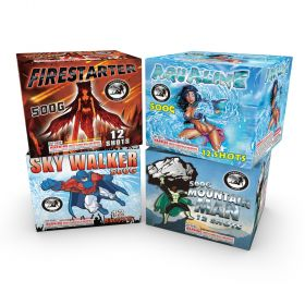 Legends Assortment 500 Gram Aerial Repeaters Hardcore Pyro