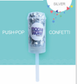 Push Pop Silver Novelties Boom Wow