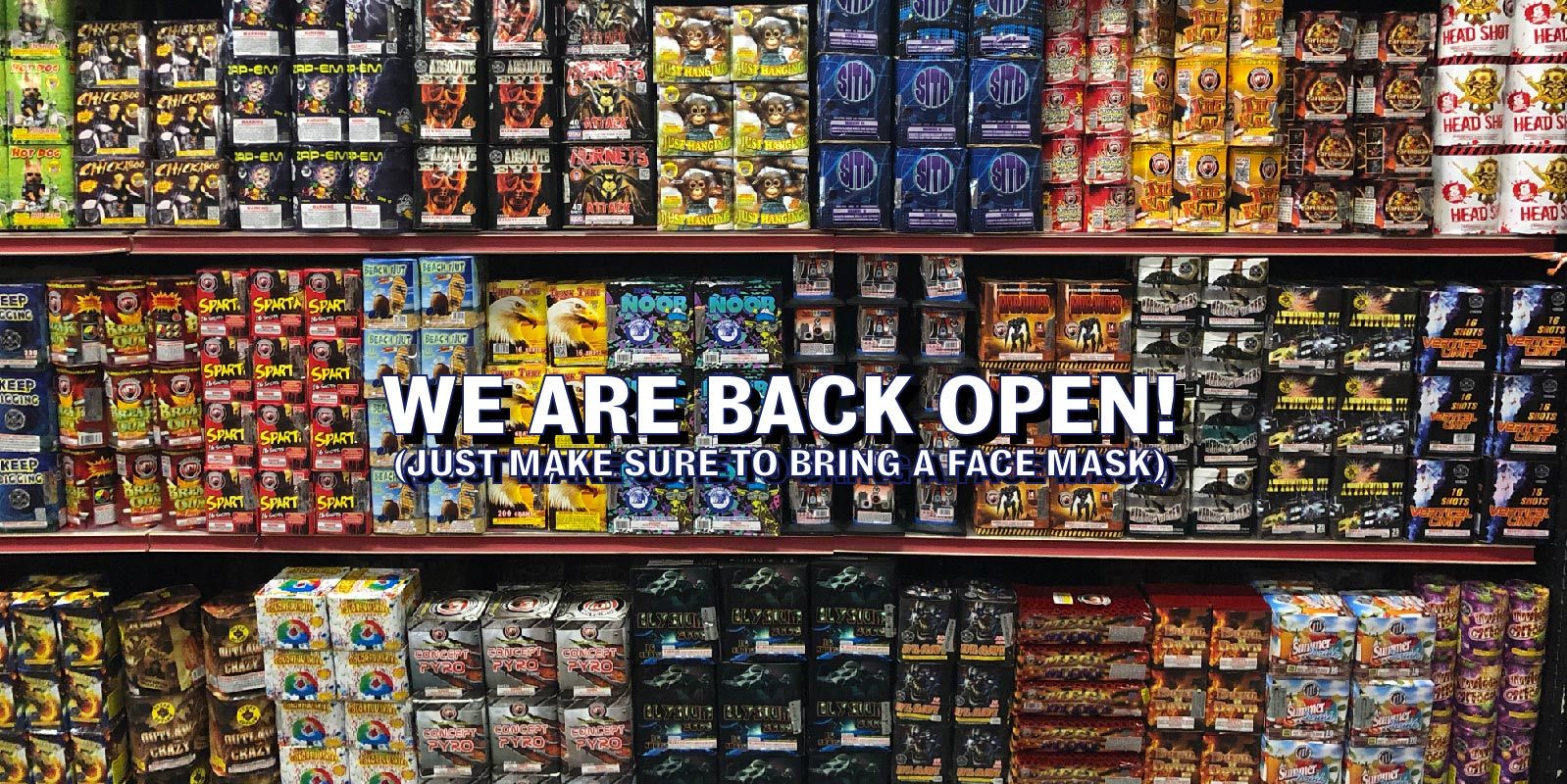 Intergalactic Fireworks at 1480 East Lincoln Highway in Langhorne, Pennsylvania 19047 is now back open after being closed due to the corona virus, covid-19. Our New Jersey location is also back open at 571 Monmouth Rd in Jackson NJ 08527